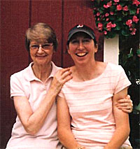 Anne Hindinger and her daughter, Eilizabeth, at Hindinger Farm in Hamden, Connecticut